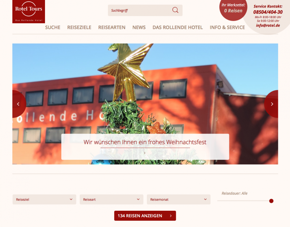 Rotel Tours Website Relaunch