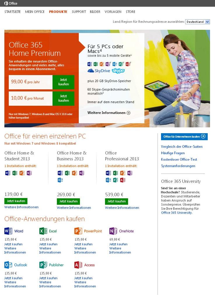 Flat Design am Beispiel von Microsoft 2014