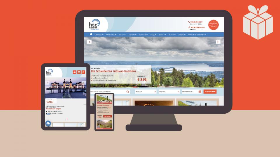 HTC-Reisen-Website-Projekt