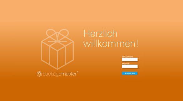 Login über den Webbrowser - die Rollen basierte Userverwaltung von packagemaster unterstützt Ihren Workflow