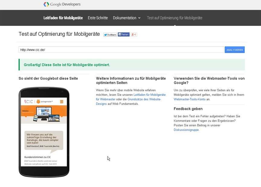Websites mobile friendly von CIC
